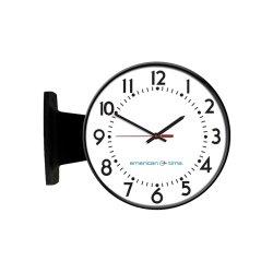 American Time & Signal - Pe53bhpd204l-web - Clock Poe 12 Round/ddw Black Ch 4 Logo