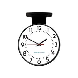 American Time & Signal - Pe64bhpd904l-web - Clock Poe 15 Round/surface Black Ch 4 Logo