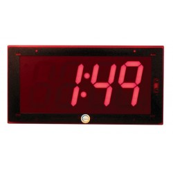 American Time & Signal - Sbd-33f-254-1r-web - Clock Digital 2.5 4 Digit Flush 110vac