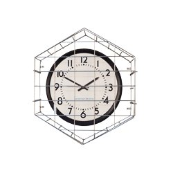American Time & Signal - Sq63badd204bpl-web - Clock Ssiq 15 Round/ddw Black Quartz Ch 4 W/ Battery Booster Logo