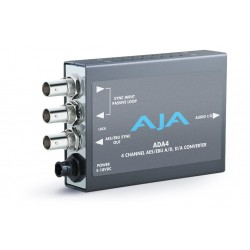 AJA Video Systems - ADA4 - 4-Channel Bi-Directional Audio A/D & D/A Converter or AES Synchronizer