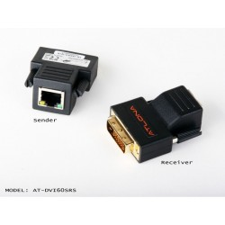 Atlona - AT-DVI60SRS - Atlona Passive DVI Extenders Over single Cat5/6/7 (Transmitter and Receiver are included)