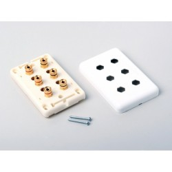 Atlona - 80060 - High-quality Wall Plate For 3 Speakers