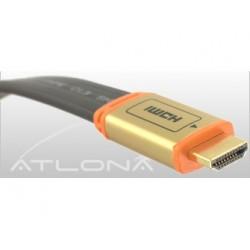 Atlona - F14031B-2 - 2m ( 6ft ) Atlona Flat Hdmi Cable ( Black Color ). Hdmi 1.3 Rated