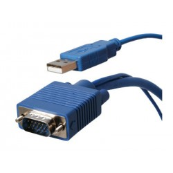Hall Research - CA-VU-15 - 15ft VGA and USB KVM Cable