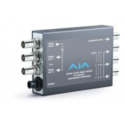 AJA Video Systems - D10CE - SDI to Analog Converter Simultaneous Outputs/Loop thru SDI outputs