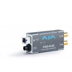 AJA Video Systems - FIDO-R-SC - Single channel SC Fiber to SDI Converter/ dual SDI outputs to 10km