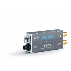 AJA Video Systems - FIDO-T - Single channel SDI to LC Fiber extender (looping SDI output to 10km)
