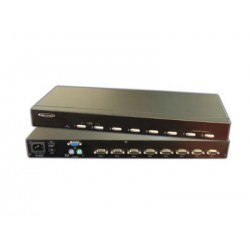 Hall Research - MC1208 - 8-channel KVM switch with OSD & 1RU Kit