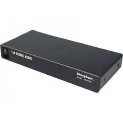 Shinybow - SB-3705 - 1:4 Shinybow Stereo Audio Distribution Amplifier Splitter