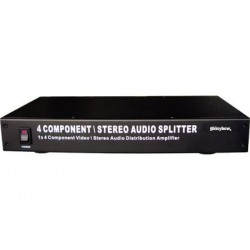 Shinybow - SB-3730-300 - 1:4 Shinybow Component Video / Analog Audio Amplifier Splitter