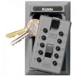 Kidde Fire and Safety - 001001K - Kidde KeySafe Original Push-Button Lid Key Boxes (Permanent), Assorted, Clamshell