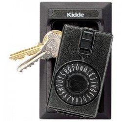 Kidde Fire and Safety - 001014K - Kidde KeySafe Original Dial Lid Key Box (Permanent), Titanium