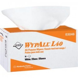 Kimberly-Clark - 03046KC - WypAll* L40 Wipers, Pop-Up Box, 10 13/16 x 10, 9 Boxes/90 ea