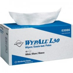 Kimberly-Clark - 03086KC - WypAll* L30 Wipers, Pop-Up Box, 10 x 9 13/16, 10 Boxes/120 ea