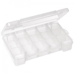 Akro-Mils / Myers Industries - 05705AM - Akro-Mils Plastic Storage Case, 15 Compartments, 8 5/8L x 1 5/8H x 5 1/8W