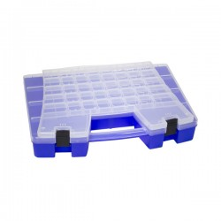 Akro-Mils / Myers Industries - 06118AM - Akro-Mils Portable Storage Organizer, 62 Compartments, 18 1/2L x 3 3/8H x 13 1/8W