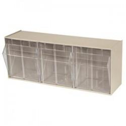 Akro-Mils / Myers Industries - 06703AM - Akro-Mils Tiltview Bins Cabinet System, 3 Bin, 7 7/8L x 9 7/16H x 23 5/8W