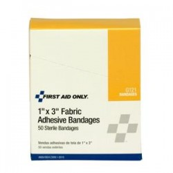 First Aid Only - 1008AC - Fabric Bandages, 1 x 3, 16/Box