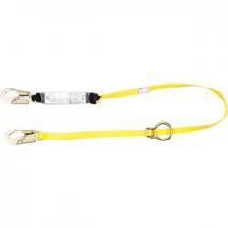 MSA - 10129151MSA - MSA Workman Shock-Absorbing Lanyard, Twin Leg w/ Locking Rebar Hooks (Adjustable)