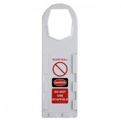 Brady - 104111BY - Brady Scafftag Holders, Danger Do Not Use Scaffold, 11 3/4 x 3 1/2, White, 10/Pkg