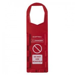 Brady - 104112BY - Brady Scafftag Holders, Danger Do Not Use Scaffold, 11 3/4 x 3 1/2, Red, 10/Pkg