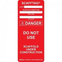 Brady - 108002BY - Brady Scafftag Danger Inserts, 7 5/8 x 3 1/4, Red, 100/Pkg