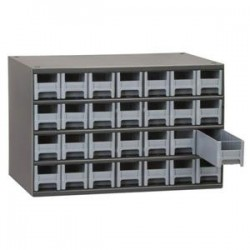 Akro-Mils / Myers Industries - 19320BLUEAM - Akro-Mils 19 Series Heavy-Duty Steel Storage Cabinet, 20 Drawer (Drawer Dimensions: 2 1/16H x 3 3/16W x 10 9/16D), Blue