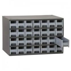 Akro-Mils / Myers Industries - 19909BLUEAM - Akro-Mils 19 Series Heavy-Duty Steel Storage Cabinet, 9 Drawer (Drawer Dimensions: 3 1/16H x 5 3/16W x 10 9/16D), Blue