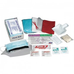 First Aid Only - 214PAC - Bodily Fluid Clean-Up Kit w/ Disposable Tray