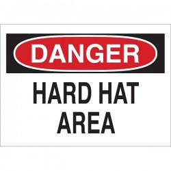 Brady - 22984BY - Brady Danger Hard Hat Area Sign, 10 x 14