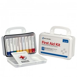 First Aid Only - 238ANAC - 10-Unit Unitized First Aid Kit w/ Gasket, 7 11/16L x 4 9/16H x 2 3/8W, Plastic