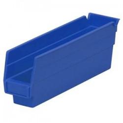 Akro-Mils / Myers Industries - 30124BLUEAM - Akro-Mils Shelf Bin, 23 5/8L x 4H x 4 1/8W, Blue