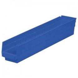 Akro-Mils / Myers Industries - 30124WHITEAM - Akro-Mils Shelf Bin, 23 5/8L x 4H x 4 1/8W, White