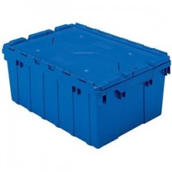 Akro-Mils / Myers Industries - 39120REDAM - Akro-Mils Attached Lid Container, 12 gal, 21 1/2L x 12 1/2H x 15W, Red