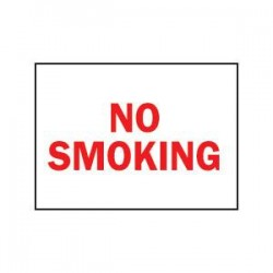 Brady - 42696BY - Brady No Smoking Sign, Aluminum, 10 x 7