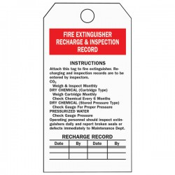 Brady - 76222BY - Brady Fire Extinguisher Inspection Tags, 5 3/4 x 3