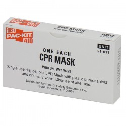 First Aid Only - A5113AC - CPR Face shield w/ 1-Way Valve (Latex-Free)