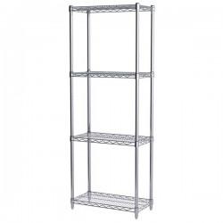 Logistics Supply - AWS631224SUAM - Akro-Mils Wire Shelf Starter Unit, 63 Shelf Post, 12 x 24 Wire Shelf
