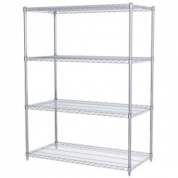 Logistics Supply - AWS632448SUAM - Akro-Mils Wire Shelf Starter Unit, 63 Shelf Post, 24 x 48 Wire Shelf