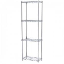 Logistics Supply - AWS741224SUAM - Akro-Mils Wire Shelf Starter Unit, 74 Shelf Post, 12 x 24 Wire Shelf