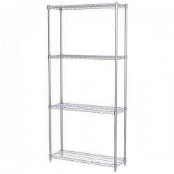 Logistics Supply - AWS741236SUAM - Akro-Mils Wire Shelf Starter Unit, 74 Shelf Post, 12 x 36 Wire Shelf