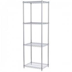 Logistics Supply - AWS741824SUAM - Akro-Mils Wire Shelf Starter Unit, 74 Shelf Post, 18 x 24 Wire Shelf