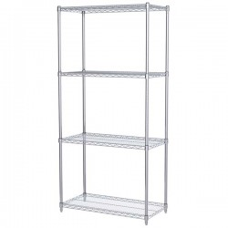Logistics Supply - AWS741836SUAM - Akro-Mils Wire Shelf Starter Unit, 74 Shelf Post, 18 x 36 Wire Shelf