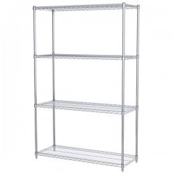 Logistics Supply - AWS741848SUAM - Akro-Mils Wire Shelf Starter Unit, 74 Shelf Post, 18 x 48 Wire Shelf