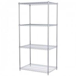 Logistics Supply - AWS742436SUAM - Akro-Mils Wire Shelf Starter Unit, 74 Shelf Post, 24 x 36 Wire Shelf