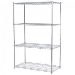 Logistics Supply - AWS742448SUAM - Akro-Mils Wire Shelf Starter Unit, 74 Shelf Post, 24 x 48 Wire Shelf