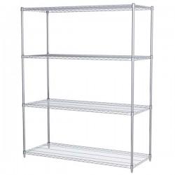 Logistics Supply - AWS742460SUAM - Akro-Mils Wire Shelf Starter Unit, 74 Shelf Post, 24 x 60 Wire Shelf