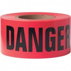Presco - B31022R21PR - Presco Barricade Tape, 2.5 mil, Danger, Red, 8/Case