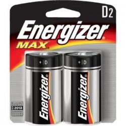 Energizer - E95BP2EN - Energizer Max Alkaline D Batteries, 2/Pkg